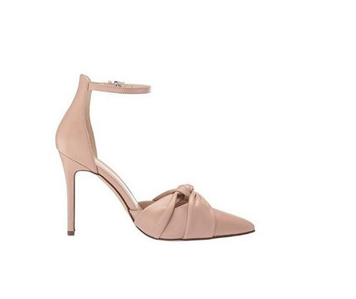 SPIKE HEELED POINTED TOE ANKLE STRAP PUMPS