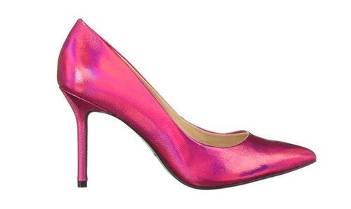 STILETTO HEELED POINTED TOE GLIMMER PUMPS
