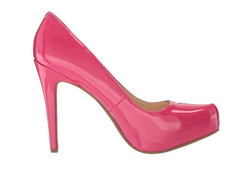 STILETTO HEELED ROUND TOE CLASSIC PUMPS