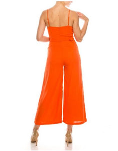 T-STRAP O-RING DETAILED MIDI JUMPSUIT