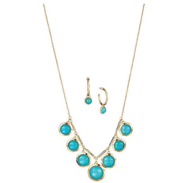 TURQUOISE EARRING NECKLACE SET