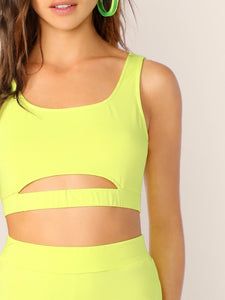 TWO PIECE NEON ATHLEISURE SET