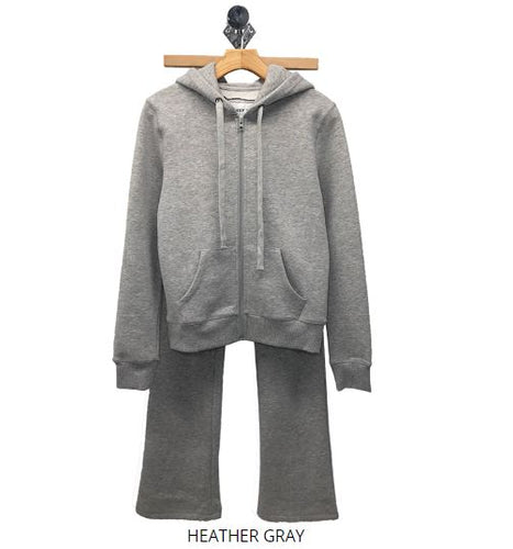 TWO PIECE ZIP CLOSURE HOODIE  JOGGER SET