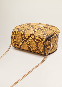 VEGAN SNAKESKIN MINI SHOULDER BAG