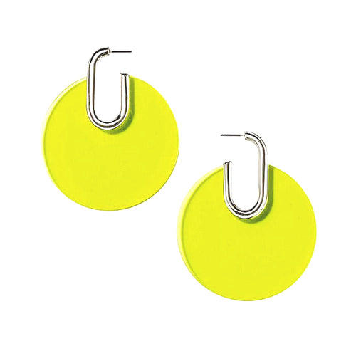 TRANSLUCENT DISK EARRINGS