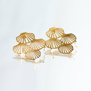 Akoya Statement Earrings - Millié Jewelry
