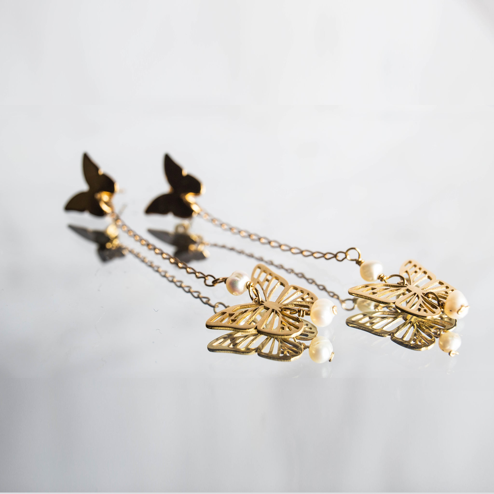 Monarca Long Earrings - Millié Jewelry
