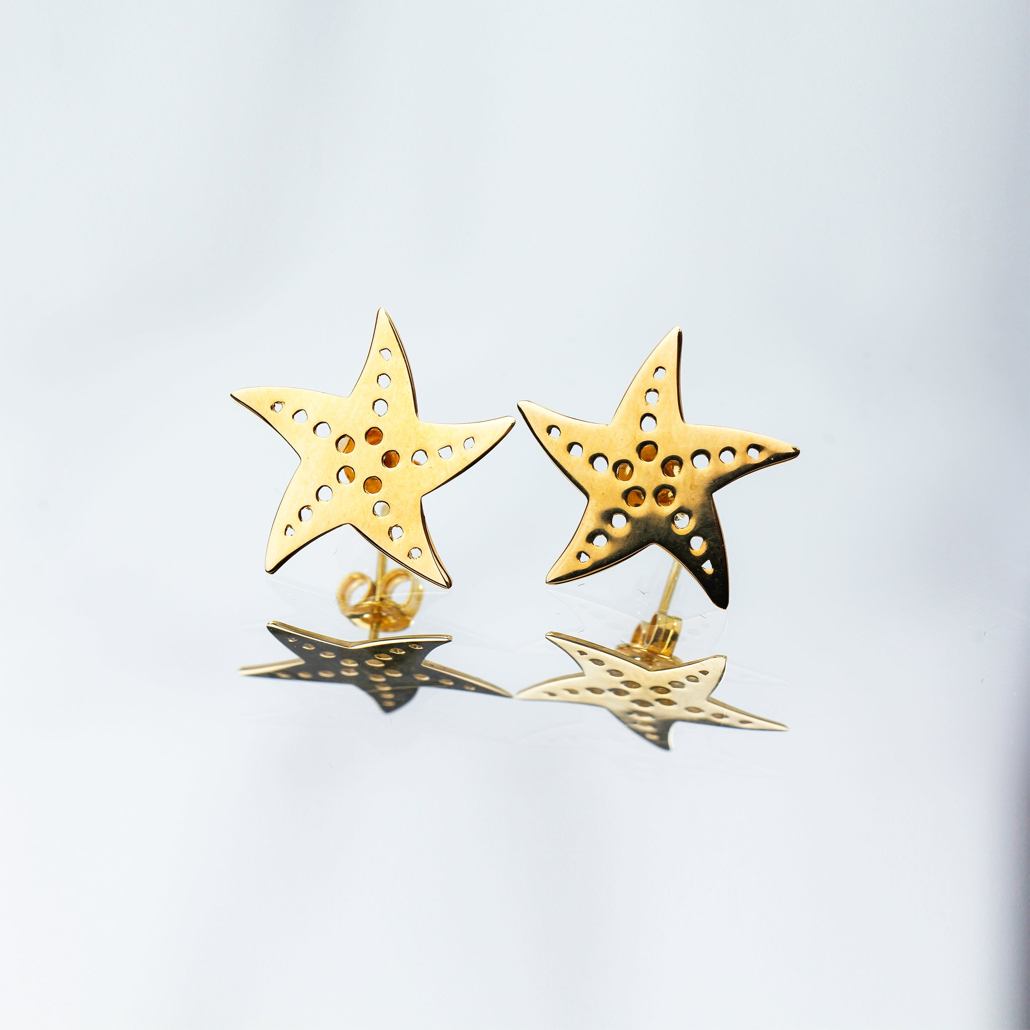 Millié Jewelry - Millié Jewelry - Starfish Mini Earrings - Aretes - Diseño Mexicano - Hecho en México