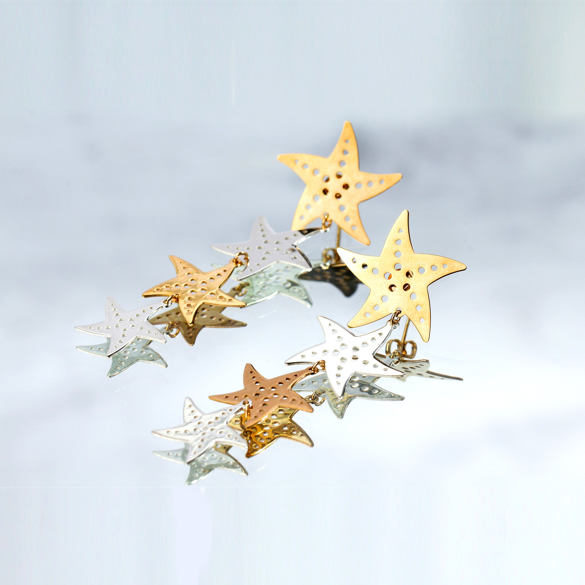 MillieJewelry  - Millié Jewelry - Starfish Statement Earrings - Aretes - Diseño Mexicano - Hecho en México