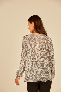 Grey Zebra Top