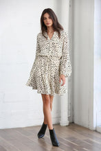 Load image into Gallery viewer, Cream & Black Dotted Dress