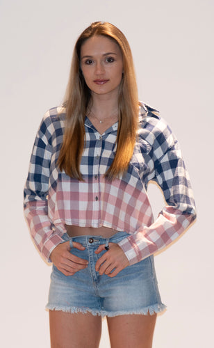 Ombre Checkered Blouse