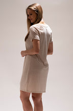 Load image into Gallery viewer, Oatmeal Side Knot Dress