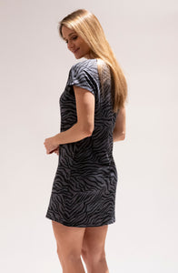Zebra Print T-Shirt Dress