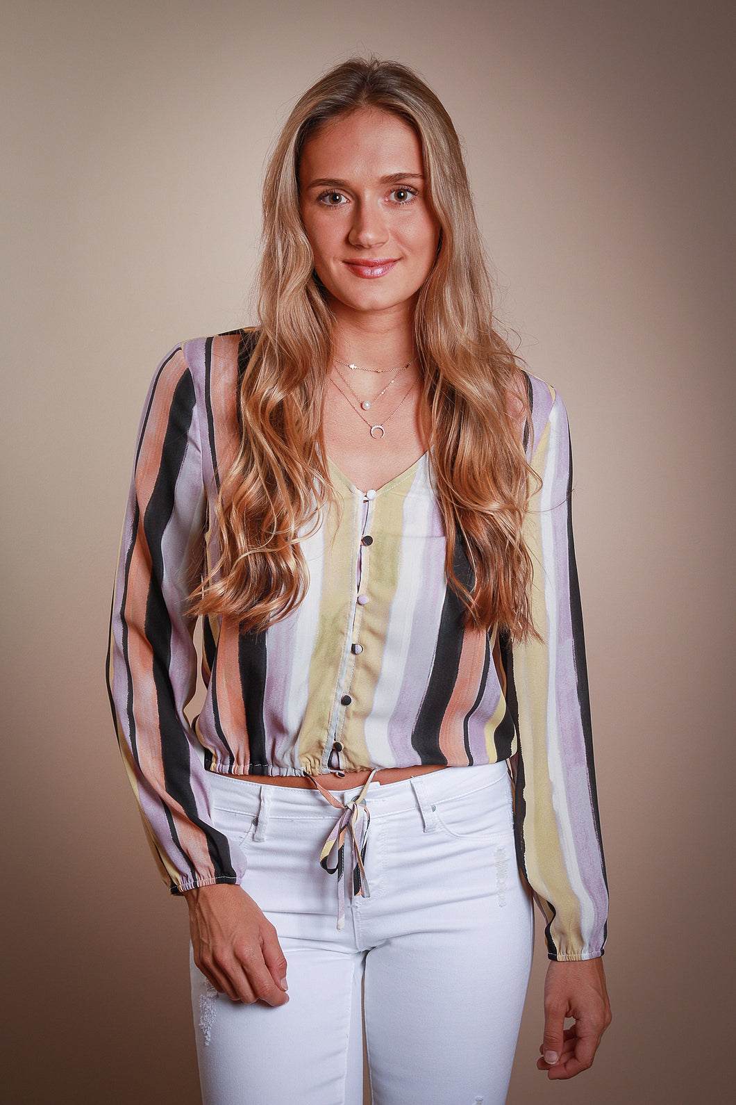 Watercolor Stripe Blouse