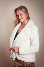 Load image into Gallery viewer, Cream Sherpa Jacket
