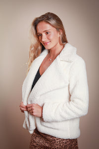 Cream Sherpa Jacket