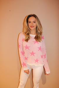 Pink Star Sweater