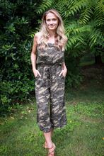Load image into Gallery viewer, Camo Strapless Jumpsuit