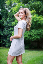 Load image into Gallery viewer, Light Grey T-Shirt Dress