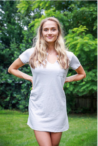 Light Grey T-Shirt Dress