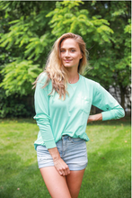 Load image into Gallery viewer, Turquoise Long Sleeve Tee