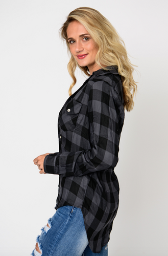 Black & Charcoal Flannel