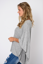 Load image into Gallery viewer, Grey Marled Poncho