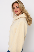 Load image into Gallery viewer, Ivory Shearling Hoodie