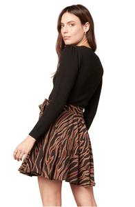 Zebra Print Swing Skirt