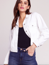 Load image into Gallery viewer, White jean jacket