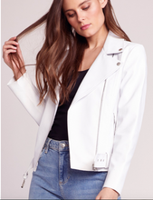 Load image into Gallery viewer, Vegan white leather jacket