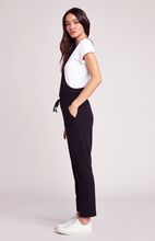 Load image into Gallery viewer, Black Overalls Jumpsuit