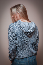 Load image into Gallery viewer, Grey Leopard Print Hoodie