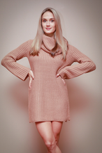 Load image into Gallery viewer, Camel Sweater Dress