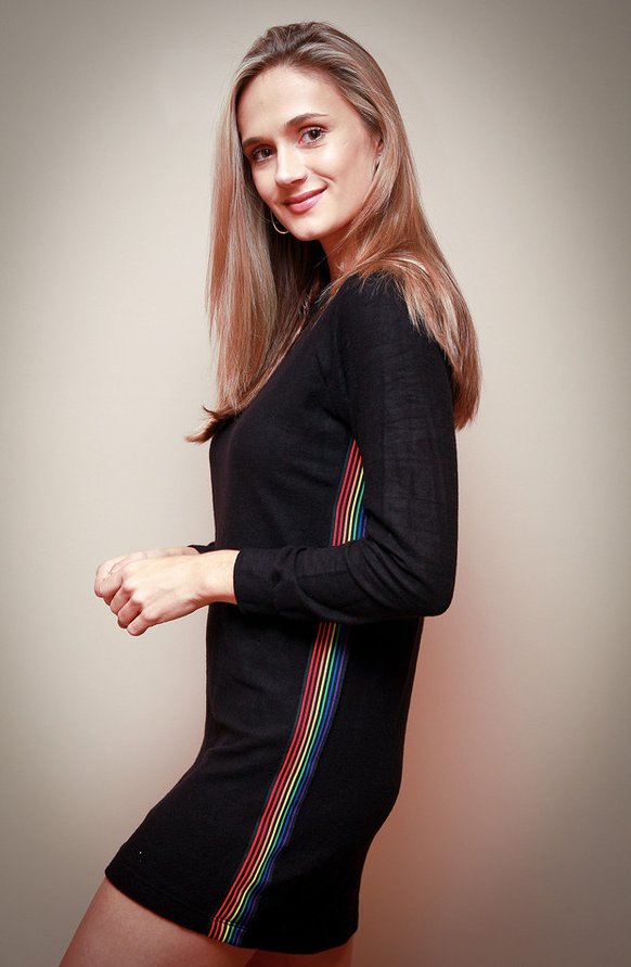 Rainbow Stripe Tunic