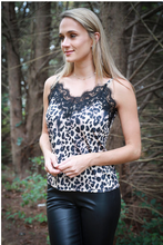 Load image into Gallery viewer, Leopard Lace Cami