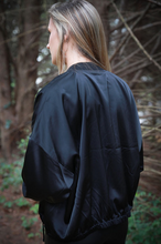 Load image into Gallery viewer, Black Bomber Jacket