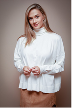 Load image into Gallery viewer, White Turtleneck Sweater