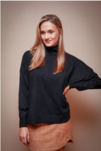 Load image into Gallery viewer, Black Turtleneck Sweater