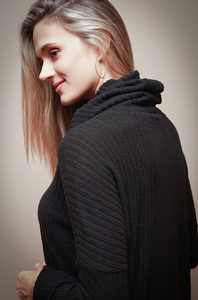 Black Cowl Neck