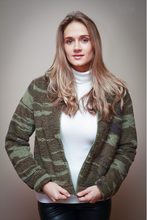 Load image into Gallery viewer, Camo Sherpa Bomber Jacket