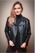 Load image into Gallery viewer, Vegan Moto Leather Jacket
