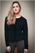 Load image into Gallery viewer, Black Chenille Sweater