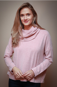 Blush Cowl Neck Sweater