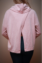 Load image into Gallery viewer, Blush Cowl Neck Sweater