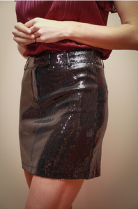 Black Sequins Skirt