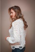 Load image into Gallery viewer, Confetti Distressed Sweater