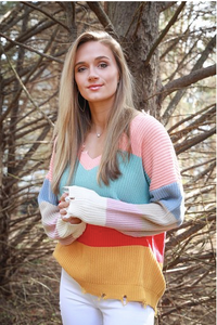 Multicolor Colorblock Sweater