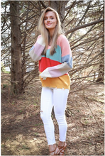 Load image into Gallery viewer, Multicolor Colorblock Sweater
